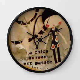 Barcelona Street Art - wall 008 Wall Clock