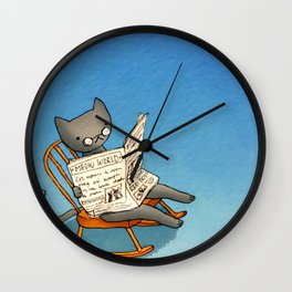 Jellybean The Grown-up Cat Wall Clock