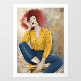 Counting Flowers on the Wall Art Print