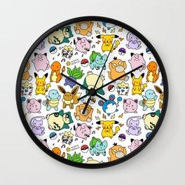 Nintendo Pattern Pok Wall Clock