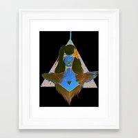 nike Framed Art Prints featuring nike by maya wamu