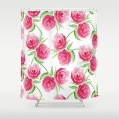 Rose Patterns Shower Curtain