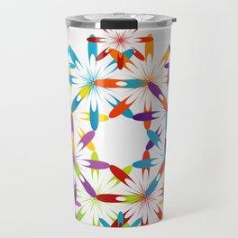 A large Colorful Christmas snowflake pattern- holiday season gifts- Happy new year gifts Travel Mug
