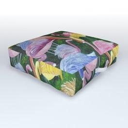 Flamingo Love Outdoor Floor Cushion