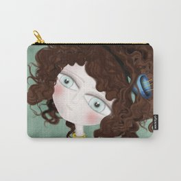 Sage Green Watercolor Art Carry-All Pouch