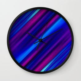Abstract watercolor colorful lines Wall Clock