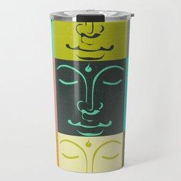 Faces of the Buddha Travel Mug