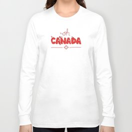 Oh Canada Day (Handlettered) Long Sleeve T-shirt