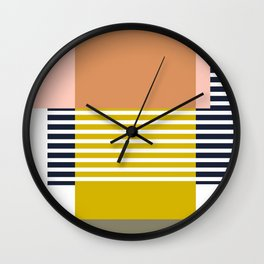 Marfa Abstract Geometric Print Wall Clock