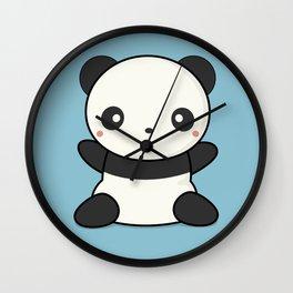 Kawai Cute Hugging Panda Wall Clock