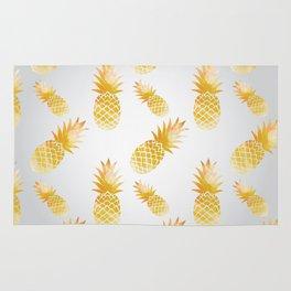 Watercolor pine-apple pattern X Rug