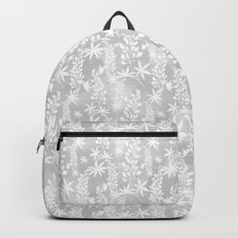 Winter patterns on the window. Backpack