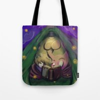 camping Tote Bags featuring Camping by Nemmersis