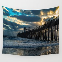South Side Oceanside Pier ~10-2015 Wall Tapestry