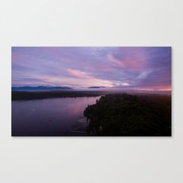 mahinapua golden hours purple sunset Canvas Print