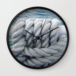 Nautical robe knot Wall Clock