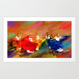 Spanish Dancers Art Print