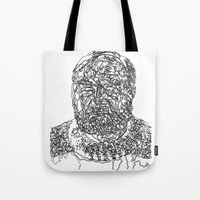 hemingway Tote Bags featuring Hemingway by The New Minimalist