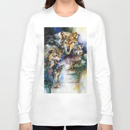 Wolves - by Kathy Morton Stanion Long Sleeve T-shirt