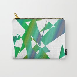 geometrical abstract shapes of green and blue Carry-All Pouch