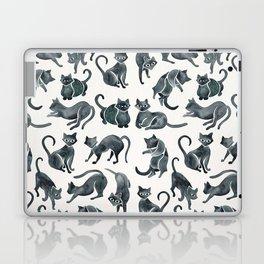 Cat Positions – Black Palette Laptop & iPad Skin