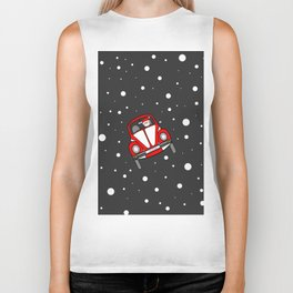 Santas Sleigh Is In The Shop Biker Tank