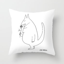 Saul Steinberg Cat with Rose American Cartoonist Artwork Reproduction for Prints Posters Tshirts Throw Pillow