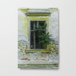 Lostplaces Window in castle Pottendorf Metal Print