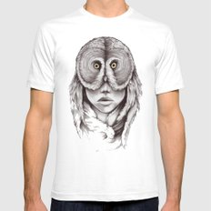 Owlhead White SMALL Mens Fitted Tee
