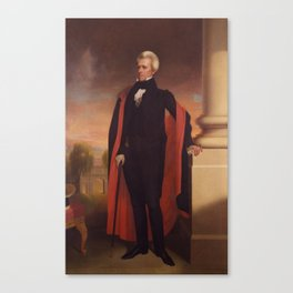 Andrew Jackson Painting Canvas Print