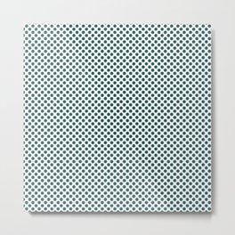 Bayberry Polka Dots Metal Print