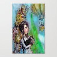oz Canvas Prints featuring  oz by AliluLera