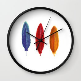 Mockingjay feathers (The H Games) Wall Clock