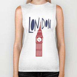 London - Big Ben Biker Tank