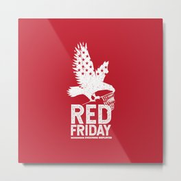 Red Friday Remember Deployed Eagle Metal Print