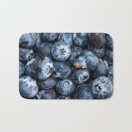 А scattering of blueberries Bath Mat