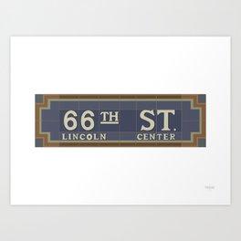 66 Street - Lincoln Center Art Print