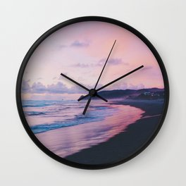 Pastel Waves on the Beach (Color) Wall Clock
