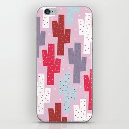 Sweet cactus pattern iPhone Skin