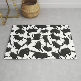 Black Cats pattern Rug