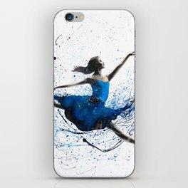 Blue Season Ballerina iPhone Skin