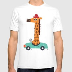 giraffe driver White Mens Fitted Tee MEDIUM
