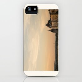 Sun sets over Budapest iPhone Case