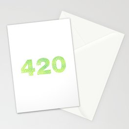 420   Smoke Weed legalize it gift Stationery Cards