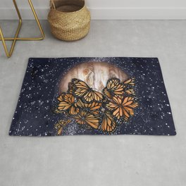 Jupiter's Butterflies Colour Version Rug