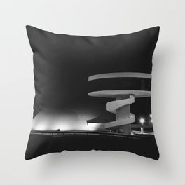 Cultural Centre | Niemeyer architect | Aviles Throw Pillow