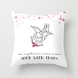 The Art of Cupid Love Throw Pillow