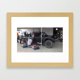 Daddy...Can we try out the Track? Framed Art Print