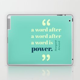A Word Is Power Laptop & iPad Skin