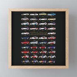 WRC Champions Framed Mini Art Print